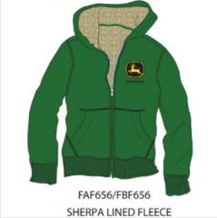JD Boys Zip Hoodie Sherpa Lined