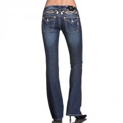 Women's Wing Cut Out Boot Cut Jeans Miss Me