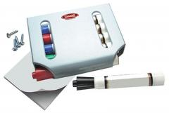 Dry Erase Marker Dispenser Caddy and Mounting