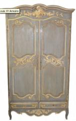 Lovely Louis XV Style Painted Armoire