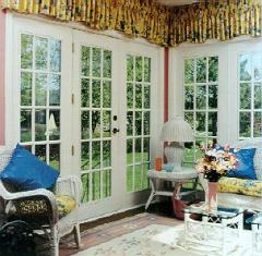 Golden Windows Swinging Patio Doors