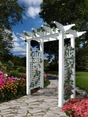 Champion Garden Entry Pergola - white