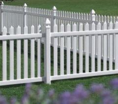 Traditonal - Wide Picket - white
