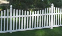 Scalloped - Wide Picket - white