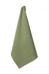 Dishtowel, Harlequin Small Green Diamond