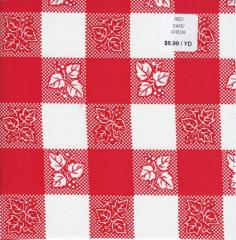 Oilcloth - Cafe Check Red