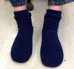 Fleece Bed Socks Sold By Width for Men and Women