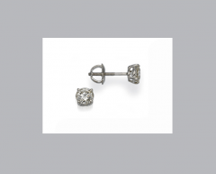 Four Prong Round Diamond Studs Earrings