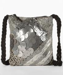 Bead & Disc Crossbody Purse