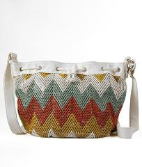 Woven Cinch Crossbody Purse