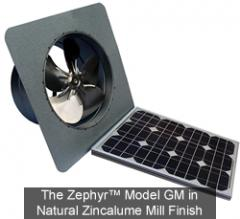 The Zephyr™ GM Model Solar Attic Fans