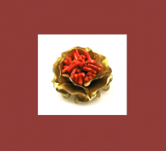 Coral Branch Flower Brooch