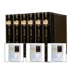 6 Black DVD Binders Bellagio-Italia