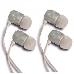 Two pack White Noise Isolating Ear Buds