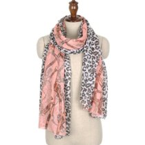 Chain Leopard Scarf