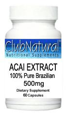 Acai Berry Extract 500 mg 120 Softgels