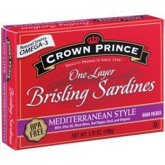 Brisling Sardines Mediterranean Style