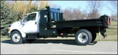 Ford F650 with Crysteel E-Series Contractor Tipper