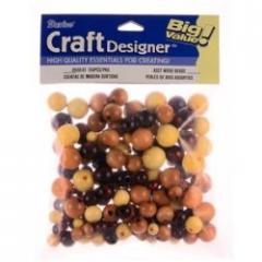 Round Wood Beads 150 Pc Bag
