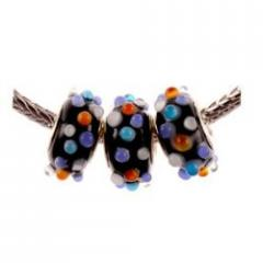 Murano Style Glass Lampwork Bump Bead