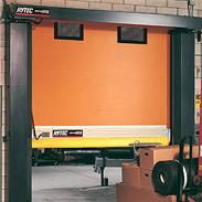 High-speed rolling door with Break-Away™ bar for