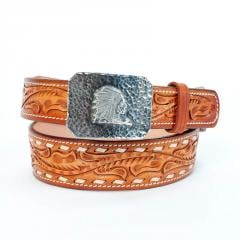 Pfeil Buck Stitch Tooled Belt