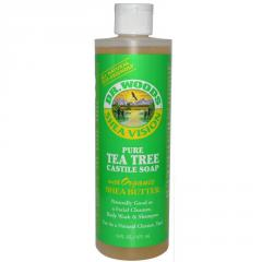 Pure Tea Tree Castile Soap with Organic Shea