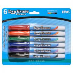 INC Dry Erase Markers, 6 pack