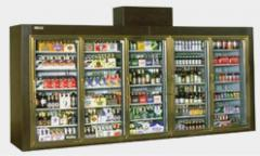 Long Five Door Display Beverage & Beer Coolers