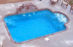 Courtyard Roman Fiberglass Inground Pool