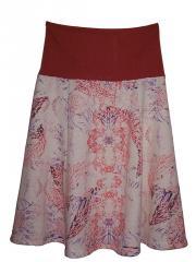 Coral Print skirt