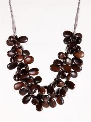 Ann Lightfoot Tiger Ebony Petals Necklace