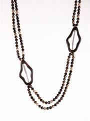 Ann Lightfoot Faceted Petrified Wood Necklace With