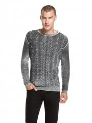DKNY Jeans Shadow Printed Crew Neck Sweater