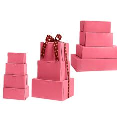 Pink Non Window Bakery Boxes