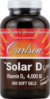 Carlson Solar D Gems - 4000 IU - 120 Softgels