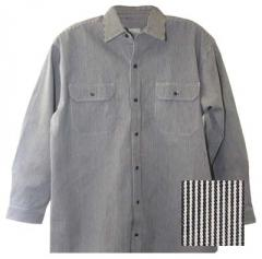 Key Brand Hickory Stripe Long Sleeve Button Front