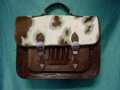 Pro Briefcase Brown With Hide Brown