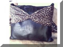 Animal Print Leather Pillow