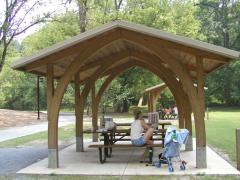 LW-OKA-G Wood Shelter