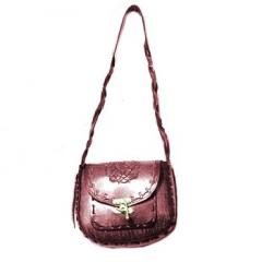 Large Oval Bag with Outside Pocket