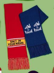 Acrylic Knit Scarf with Fringe Style 6200
