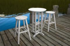 "Traditional 30"" Round Bar Stool"