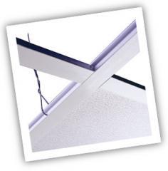 Fiberglass ceiling grid system