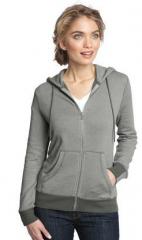 Ladies Mini Stripe Full-Zip Hoodie