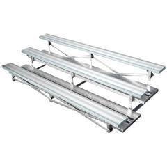 3 Row Galvanized Frame Bleachers - Aluminum