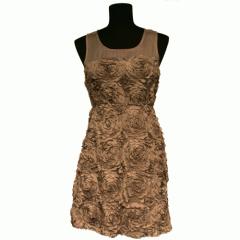 Taupe Flower Dress