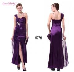 Split Purples Diamante Sweetheart Padded Long