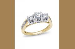 Encore, 14K Two-Tone Diamond Engagement Ring