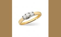 14K Yellow Gold and Platinum Diamond Engagement